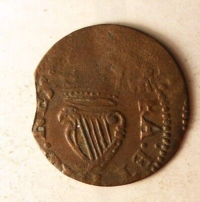 1660 IRELAND FARTHING - Super Rare Obscure Coin - Lot #N14