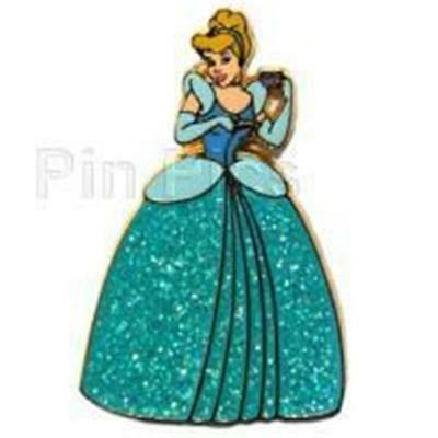 DLRP- CINDERELLA SPARKLE PRINCESS Glitter GOWN Disney PIN 34606