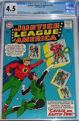 Justice League of America #22 CGC graded 4.5 Justice Society America crossover