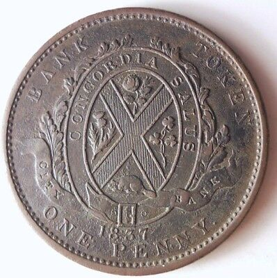 1837 CANADA (MONTREAL) PENNY - Great Coin - AU - + VALUE - Lot #N14