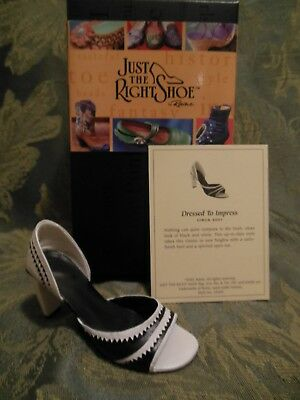 Just The Right Shoe~Collectible~Dressed To Impress~New In Box~Mint Condition