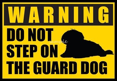 MALTESE Warning Do Not Step on Guard Dog Magnet  4 x 3in