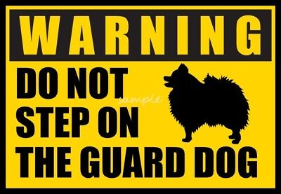 POMERANIAN Warning Do Not Step on Guard Dog Magnet  4 x 3in