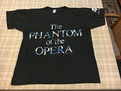 Vintage1986 Phantom Of The Opera Graphic T Shirt XL Black Original 80s 90s Mask
