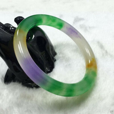 Chinese Natural Beautiful Lavender Green Nephrite Jade Bangle Bracelet