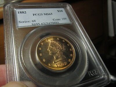Unreal Eye Appeal On This Liberty Head Eagle 1882 Ms-63 Pcgs  X-Bright Surfaces