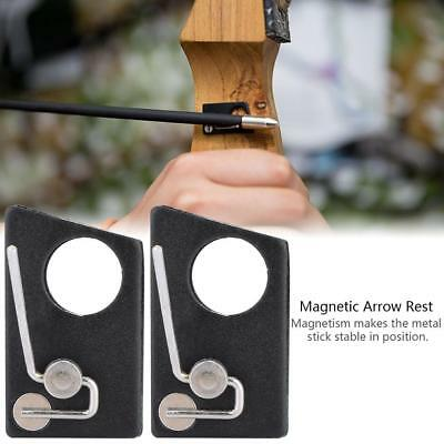 Metal Magnetic Archery Hunting Arrow Rest Recurve Bow Outdoor Shooting Accessory