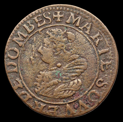 FRENCH STATES, Dombes. Marie de Montpensier, 2 Tournois, 1627, Unlisted in KM