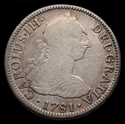 Colonial Mexico, 1781 Silver 2 Real, Charles III, KM# 88.2