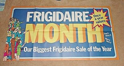 Vintage Large Frigidaire Month Store Display Poster