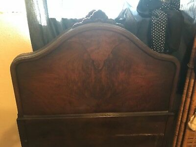 Antique Twin Beds 1920's Wood Vintage with beautiful design