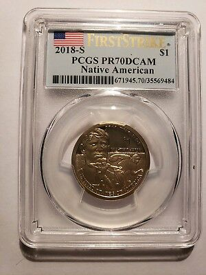 2018 Sacagawea dollars PCGS PR70DCAM First Strike - none better - San Francisco