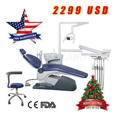 Computer Controlled Dental Unit Chair Built-in Water purified system USA STOCK