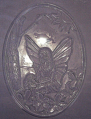 Large Oval With A Fairy Sitting In The Garden Chocolate Mould Or Plaster Mould