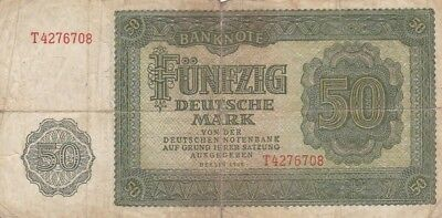 1948 East Germany 50 Mark Note, Pick 14a