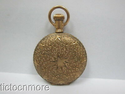 Antique American Waltham Grade J Roman Dial Hunting Case Pocket Watch 1890