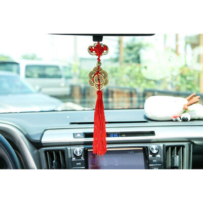Hot Chinese Knot Ancient Copper Cash Good Luck Car Hanging Decor Size 9
