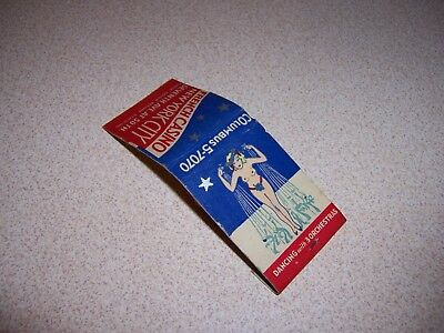1940s FRENCH CASINO NEW YORK CITY NY. VTG RISQUE MATCHBOOK - UNUSED