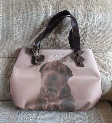 Shar Pei Purse Dog Handbag Brown Chocolate Princess
