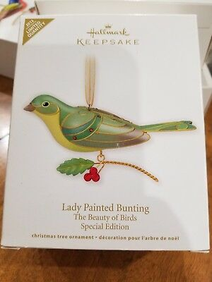 2012 Hallmark Lady Painted Bunting Special Edition The Beauty of Birds Ornament