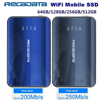 64/128/256/512GB WiFi 300Mbps Type C SSD Solid State Drive For Phone Tablet PC