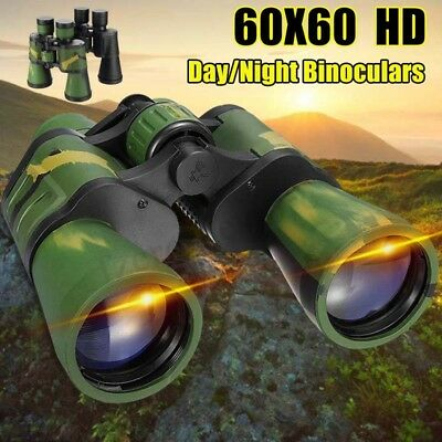 60x60 HD Day/Night Vision Zoom Military Binoculars Telescope Camping Hunting