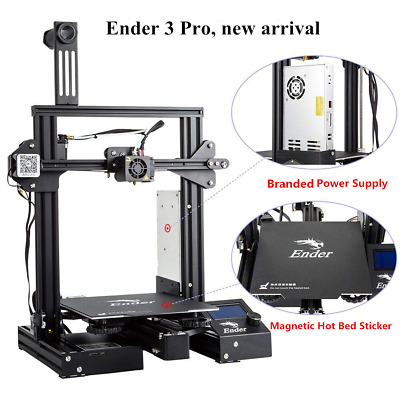 Creality Ender 3 Pro 3D Printer Magnetic Newest Build Plate Removable Bed DC 24V