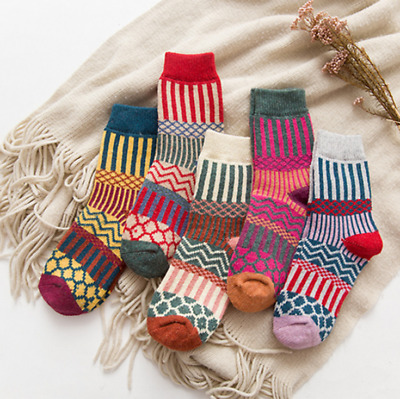 5/10 Pairs Men Women Winter Sock Thick Wool Cashmere Design Warm Soft  Casual