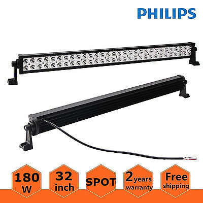 "Philips 32""inch 180W LED Light Bar OffRoad Driving SUV Jeep SPOT Lamp Ford 30/34"
