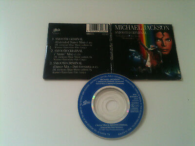"Michael Jackson - SMOOTH CRIMINAL - 3"" MINI CD Single © 1987"