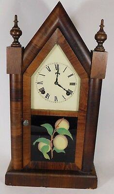 Antique American Jerome & Co Gothic Steeple Clock - Working