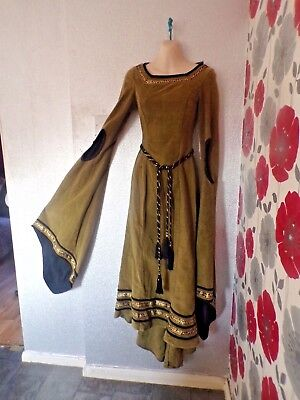 Vintage Quality Ex Theatre Medieval /gothic Style Dress With Fine Design Size6/8