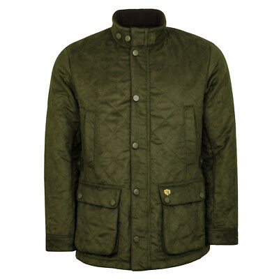 Alan Paine Felwell Mens Quilted Jacket Dark Olive