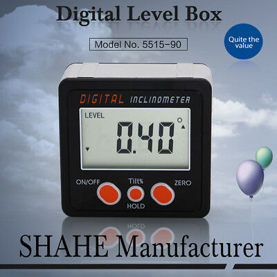 Mini LCD Digital Inclinometer Protractor Bevel Angle Gauge Magnet Base Accurate