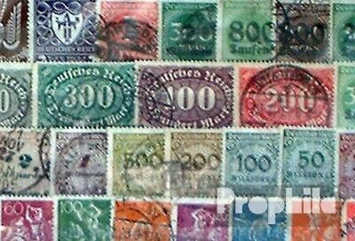 German Empire 100 different stamps  out inflation 1919 until 1923 without Depend