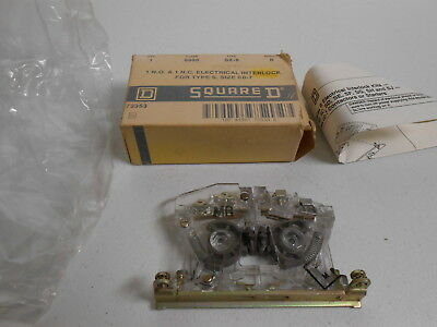 9999 SX-8 SQUARE D Electrical Interlock Size 0-7  1 NO 1 NC CLEAR  973353 NEW