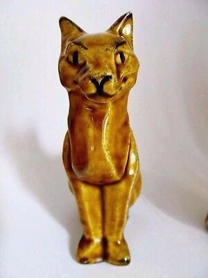 """ancient Egyptian Cat Figurine * ""tutt"" * Rebus Design * Ceramic Arts Studio"