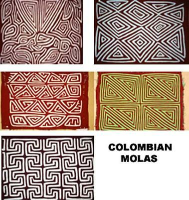 Mola Appliqué work    Hand Made in Colombia by the Kuna Indians -   Art -  Craft