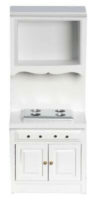 Dolls House White Raven Cooker Stove Unit Miniature Fitted Kitchen Furniture