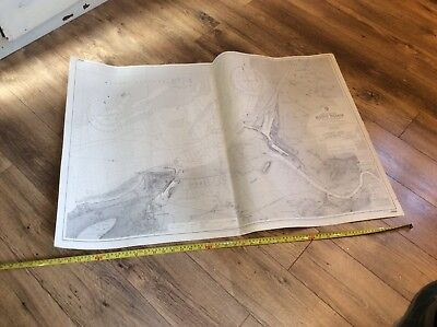 Vintage Admiralty Nautical Chart Bristol