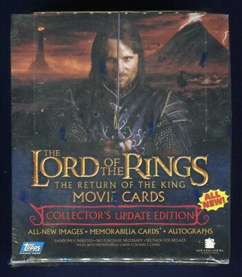 2003 Topps LOTR Lord Of The Rings Return Of King Collectors Update Hobby Box *B