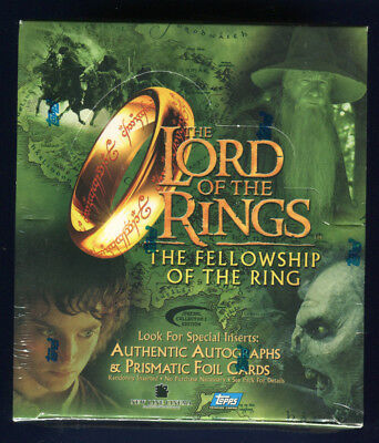 2001 Topps Lord of the Rings Fellowship Coll Edition Factory Sealed Hobby Box *B