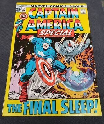 Captain America Annual #2 Special Marvel Comics 1971  Stan Lee Jack Kirby VF-