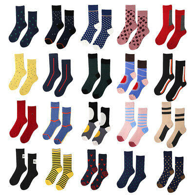 Fashion Unisex Socks COTTON Happy Funky Unique Striped Designed Adults Size 6-11