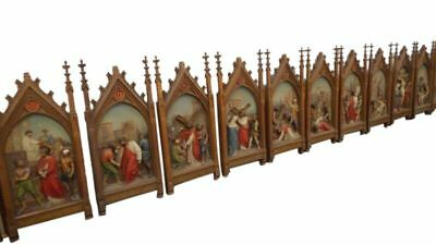 Outstanding Antique Religious Stations of the Cross, 19th Century