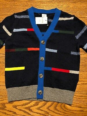 Baby Gap Toddler Boys Size 3T Multi Color Striped Cardigan Sweater NWT