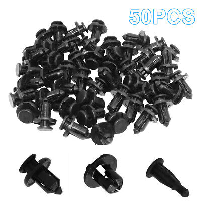 10mm 50x Bumper Engine Cover Fender Grille Clips fit for Subaru Forester Legacy