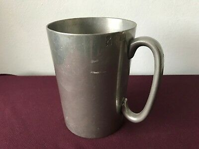 Lovely Victorian Pewter Pint Tankard With Touch Marks & V.r.
