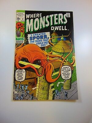 Where Monsters Dwell #2 FN- condition Huge auction going on now!
