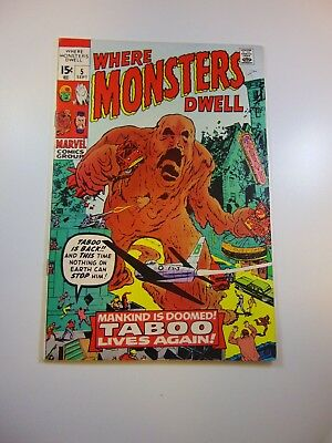 Where Monsters Dwell #5 VF- condition Huge auction going on now!